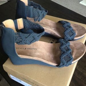 NEW Lucky Brand Kaydyn Wedge Sandal